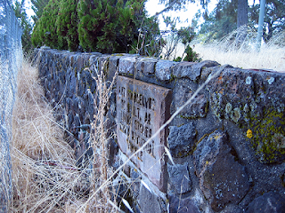 Roy Wilbee's stone wall and plaque