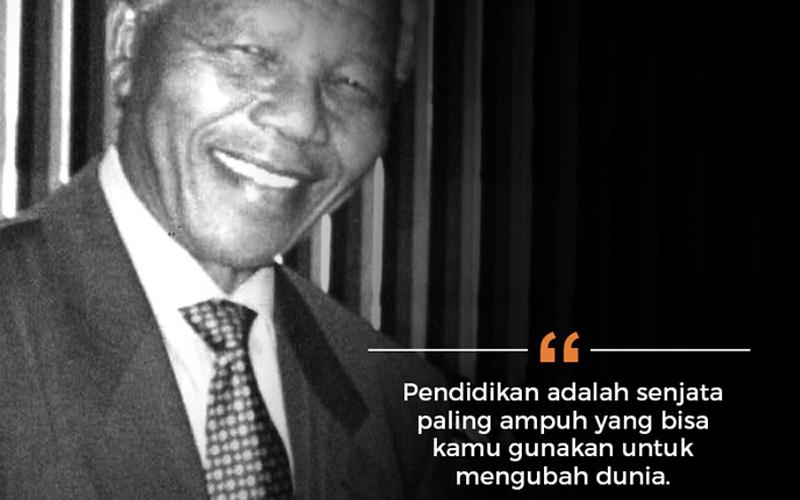 10 Kata Bijak Inspiratif dari Nelson Mandela (Bahasa Inggris dan Indonesia)