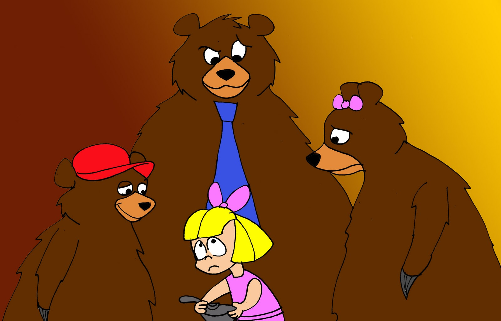 Once Upon A Time And Long Ago Goldilocks And The Three