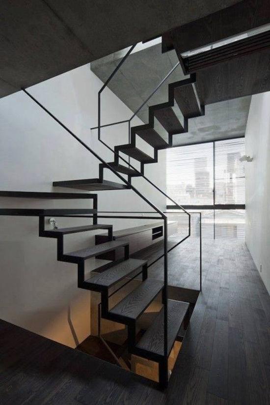 11 inspirasi desain tangga minimalis dengan pijakan pipih