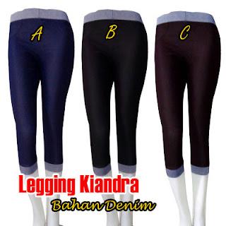 Jual online grosir dan ecer celana legging wanita motif serta polos bahan denim terbaik dan katun berkualitas berbagai ukuran jombo big size harga termurah model trendy
