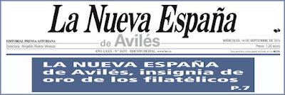 Cabecera de La Nueva España de Avilés