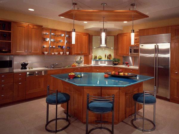 Hogares frescos 30 dise os de cocina con islas a adiendo for Cuisine type americaine