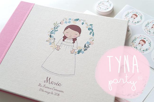 Papelería personalizada para la Primera Comunión de María
