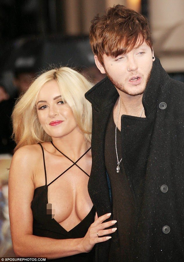 James Arthur at X-Men premiere... as he makes his red carpet debut with 'new girlfriend'