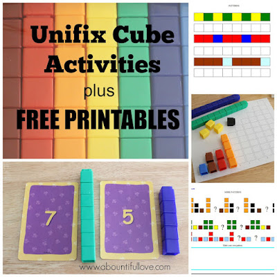 http://www.abountifullove.com/2015/10/unifix-cubes-activities-plus-free.html