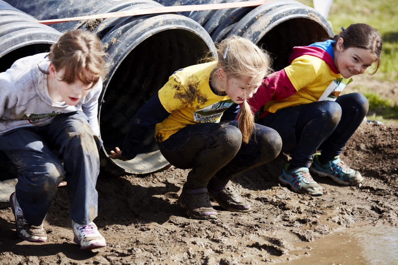 Shoot the fruit - The Fruit Shoot Mini Mudder Course At Henley April 2016