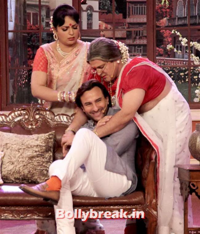 Upasana Singh, Saif Ali Khan and Ali Asgar, Saif ali khan on Comedy nights with Kapil