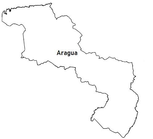 La cartografía: Mapa del Estado Aragua (Venezuela) para colorear