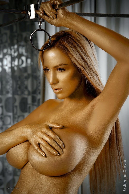 Jordan Carver Big Boobs Topless Nude In Golden Touch - Big -6155