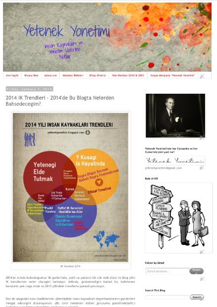 2014 IK Trendleri - 2014'de Bu Blogta Nelerden Bahsedecegim? - 03.01.2014