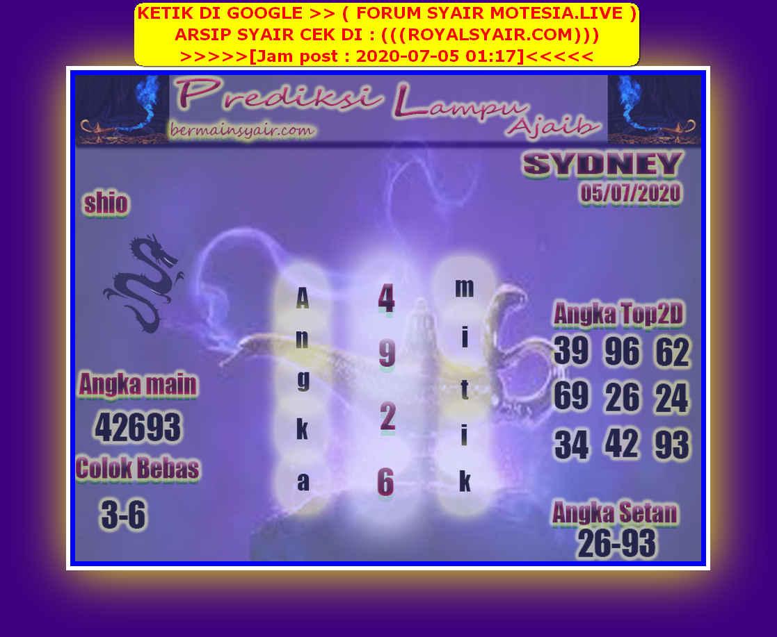 Kode syair Sydney Minggu 5 Juli 2020 217