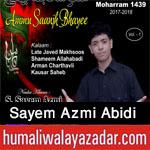 http://www.humaliwalayazadar.com/2017/09/sayem-azmi-abidi-nohay-2018.html