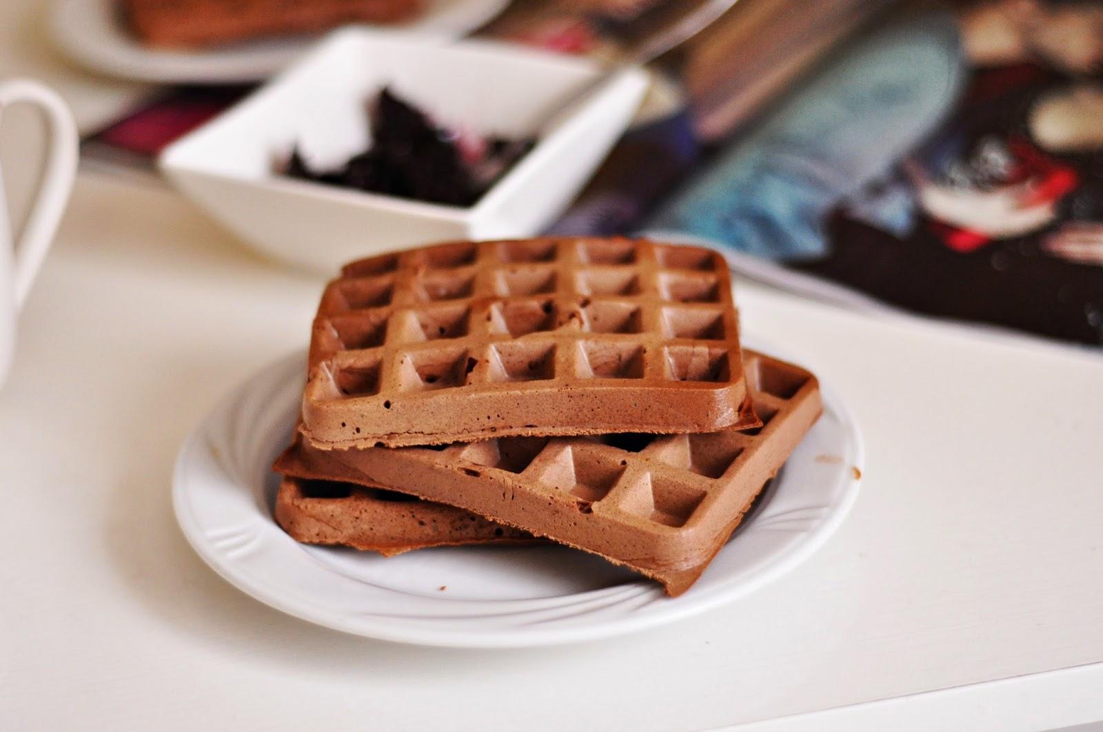 Gryczane gofry kakaowe | bezglutenowe | niski IG | przepis z odżywką białkową