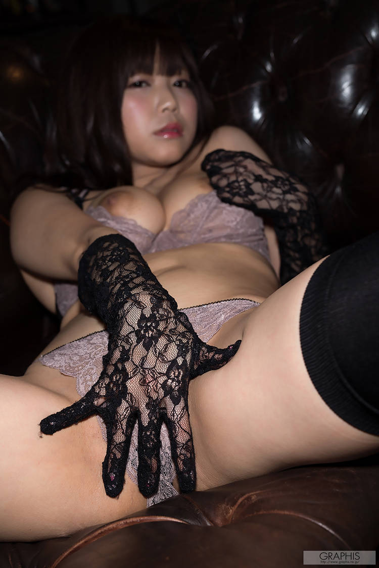 Busty Asian Miharu Usa In Black High Sock