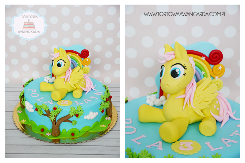 artystyczny kolorowy tęczowy tort urodzinowy kucyki pony Warszawa