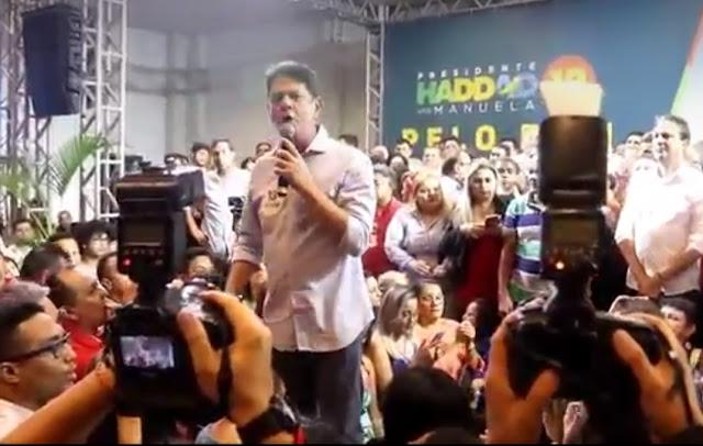 A VACA FOI PRO BREJO! Irmão de Ciro Gomes é vaiado no lançamento da campanha pró-Haddad no Ceará!!!