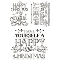 Hand Drawn Greetings Christmas Clear Stamp Set