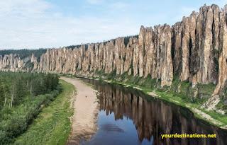 Volga River and Lena River