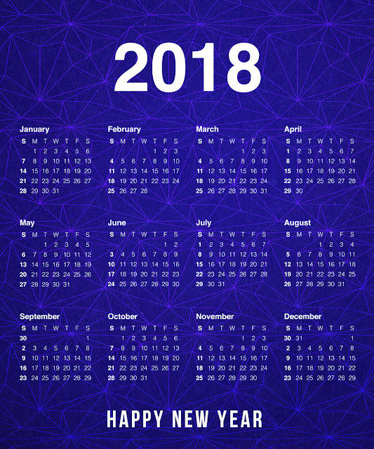 Best New Year Calendar 2018