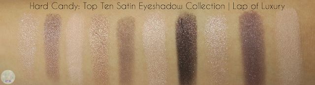 Hard Candy Top Ten Satin Eyeshadow Collection | Kat Stays Polished