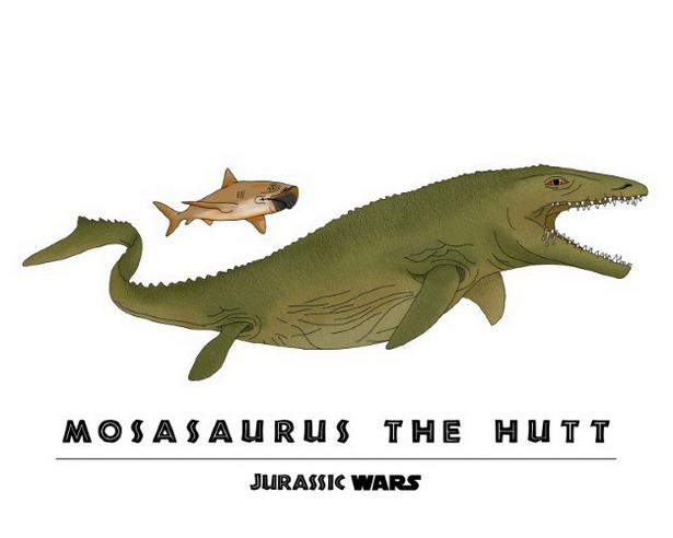 Jabba the Hutt + Mosasaurus = Mosasaurus the Hutt