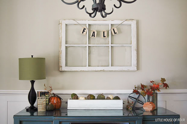 Fall decorated dining room server