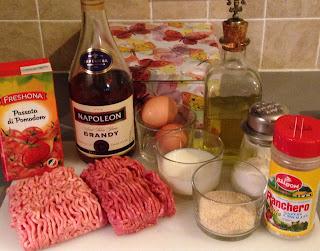 Albóndigas con tomate, ingredientes