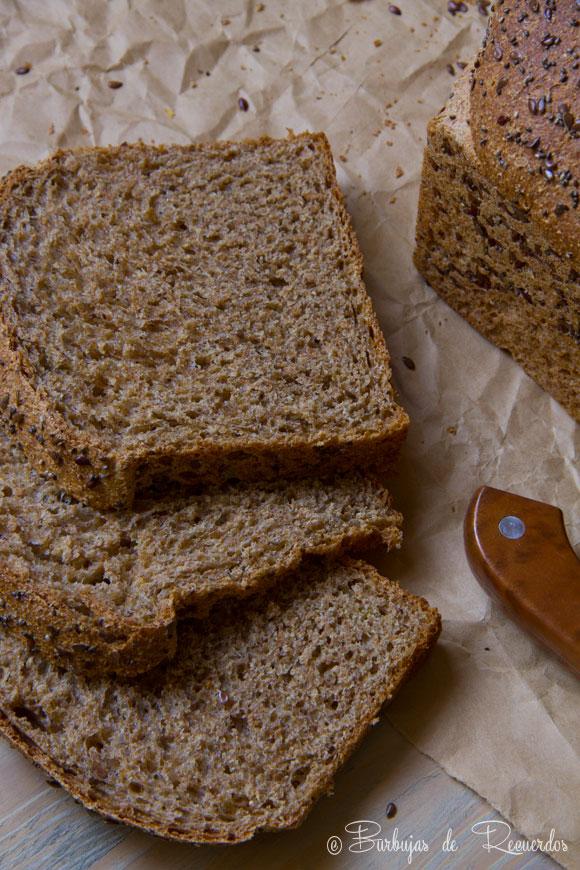 Pan de molde 100% integral, ligero y delicioso. ¡Sí se puede!