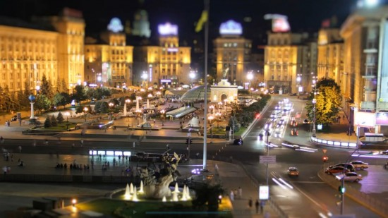 MiniLook Kiev. Okapi. Tilt Shift Video