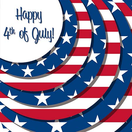 4th of July Greetings cards 2017