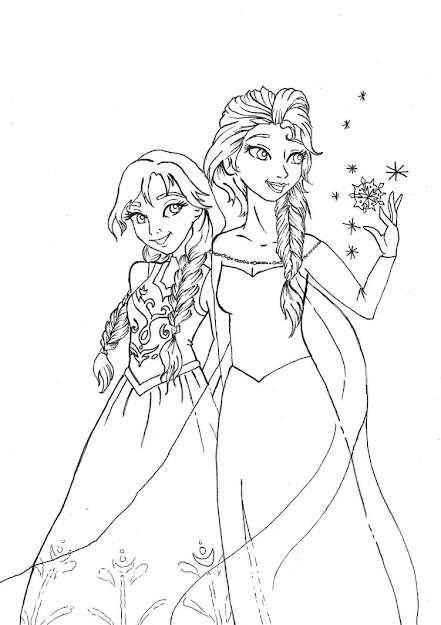 Anna From Frozen Coloring Pages  You Wanna Build Snowman Anna And Elsa  By