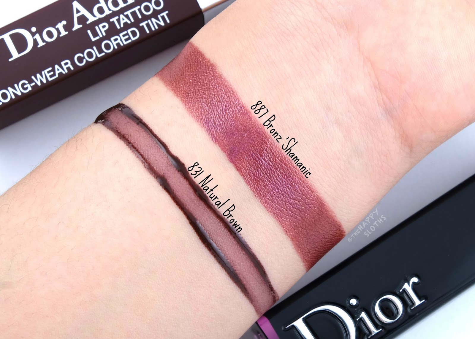 "Dior Summer 2019 Wild Earth Collection | Dior Addict Lacquer Stick in ""887 Bronz'Shamanic"" & Dior Addict Lip Tattoo in ""831 Natural Brown"": Review and Swatches"