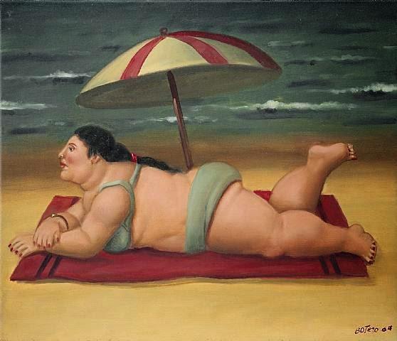 Praia - Fernando Botero e suas pinturas ~ O pintor das figuras volumosas