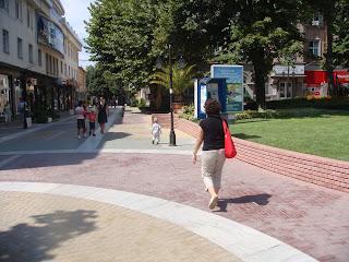 Haskovo sokaklarında dolaşırken