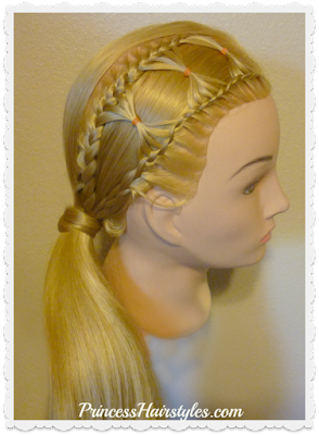 Adorable bow tie braid hairstyle, video tutorial
