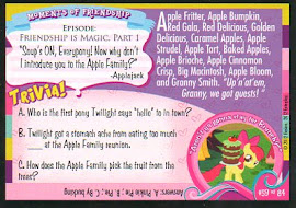 My Little Pony Meet the Apple Family! Series 1 Trading Card