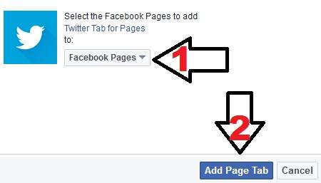 how to add twitter tab in facebook page