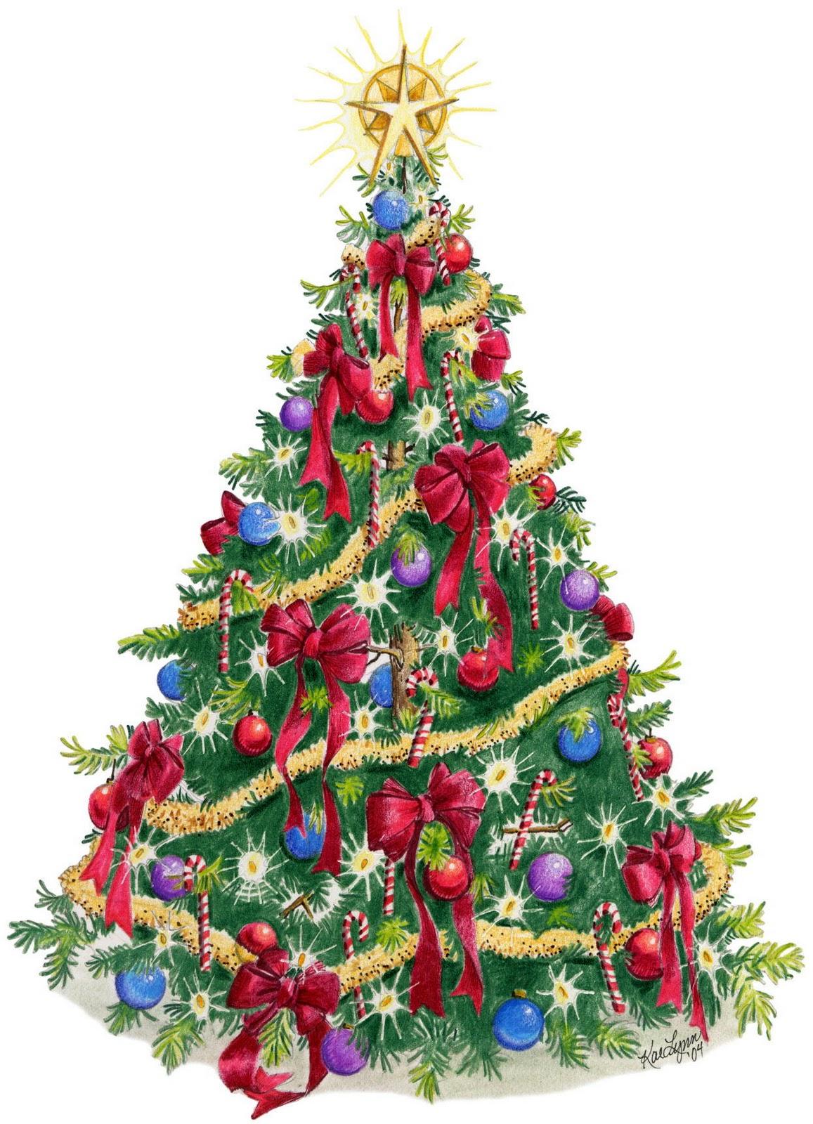 Los elementos del arbol de navidad