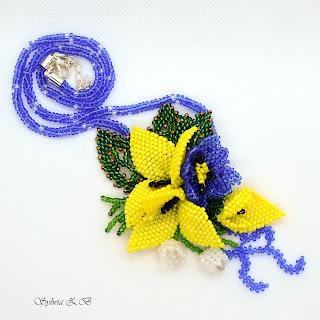 kwiaty koralikowe, peyote