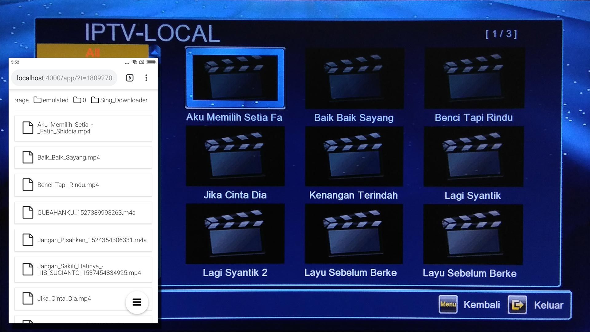 Cara Menonton Video Dari Hp Ke TV Dengan Receiver