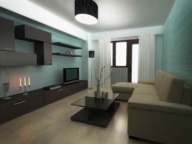 in diesem bild ist das wohnzimmer neben dem schlafzimmer eine einfache weie couch die der besitzer zum fernsehen nach einem tag arbeit erlaubt - Ideen Fr Ein Kleines Wohnzimmer