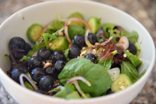 Blueberries go great on salad!