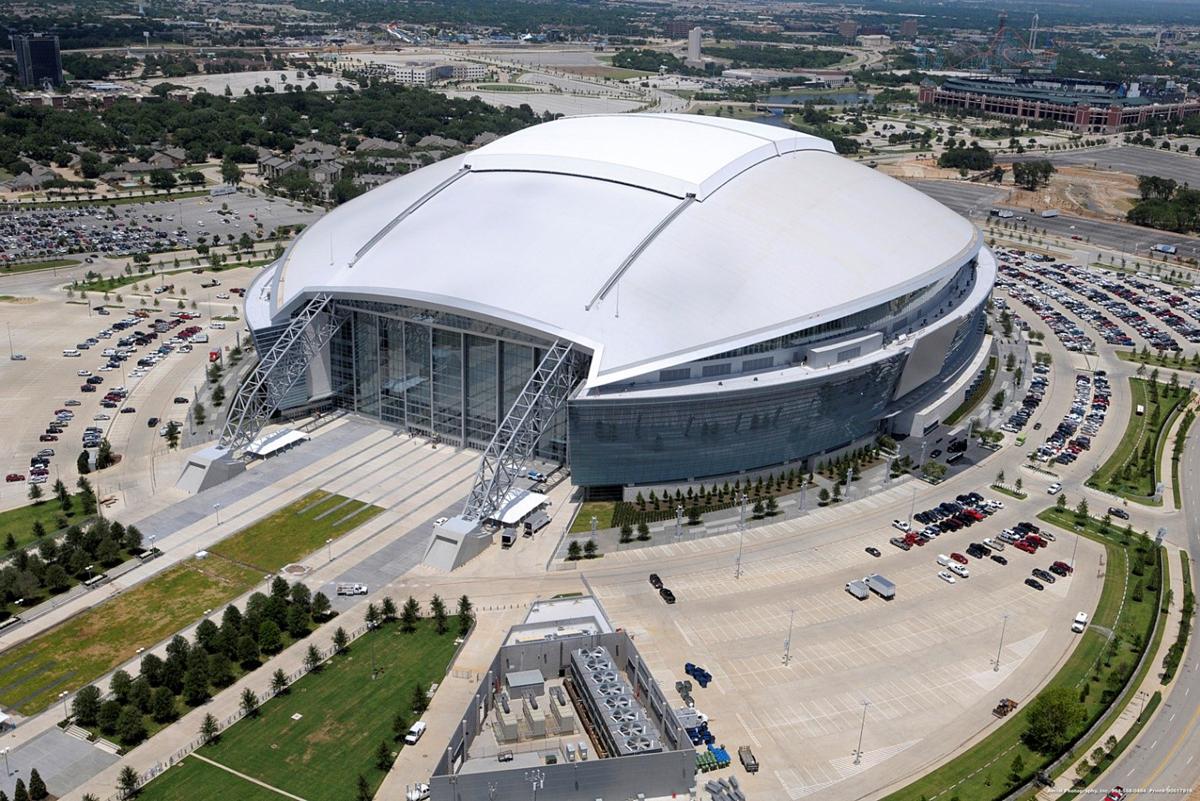 at&t stadium dallas sole negli occhi architettura