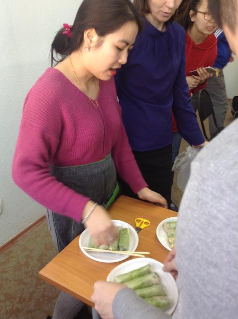 Festival ẩm thực tại RUDN - kỷ niệm tại lớp học tiếng Nga