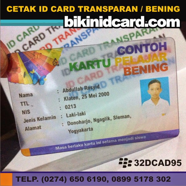 id card tembus pandang
