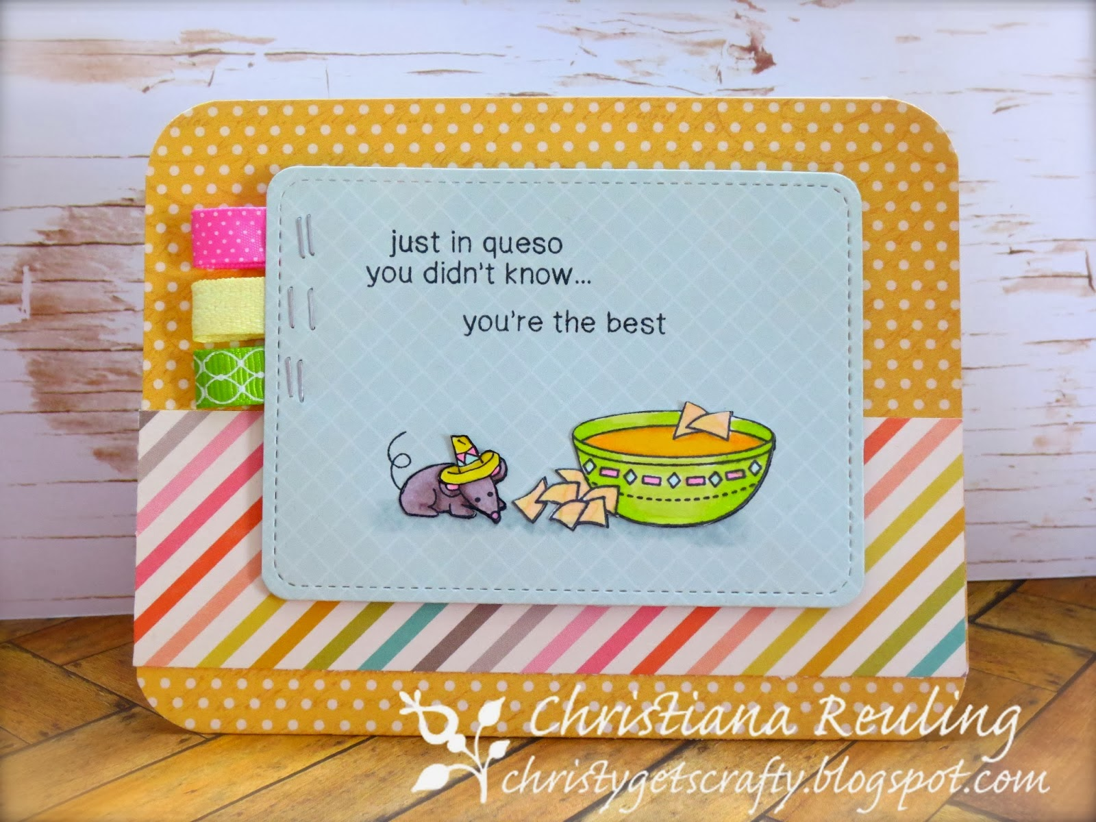Cheese card by Christiana - Winner of InkyPaws Challenge #6