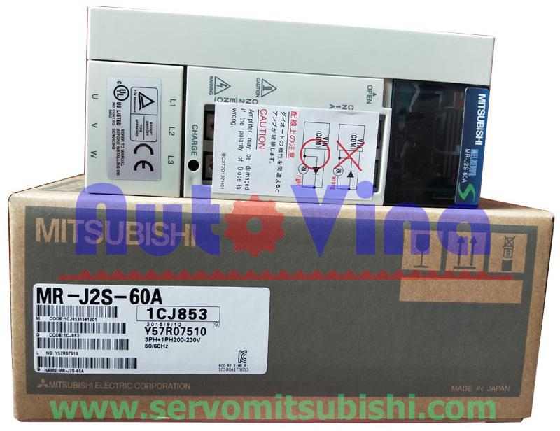 Đại lý bán drive Amplifier MelServo Mitsubishi MR-J2S-60A công suất 600W, Động cơ Servo HC-SFS52, HC-SFS52B, HC-SFS53, HC-SFS53B, HC-LFS52, HC-LFS52B