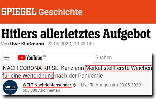 Hitlers allerletztes Aufgebot - WELT Nachrichtensender Merkel stellt erste Weichen für eine Weltordnung