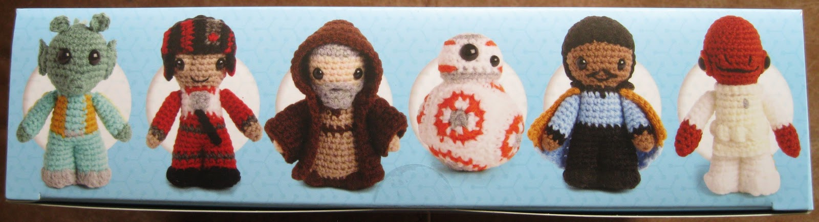 Lucyravenscar crochet creatures star war even more crochet is here inside the box you get the book with all twelve patterns and then the yarn and everything else you need to make the jawa and bb 8 that includes a crochet ccuart Images